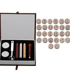 Retro Classic Initial Alphabet Wax Seal Stamp Set Sealing Wax 26 Letters Wood