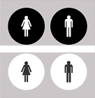 Womens Mens Office Restroom Signs - Acrylic Restroom Sign Set - FREE SHIPPING