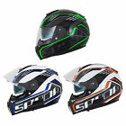 New Spada Motorcycle Bike Unisex SP16 Gradient Full Face Helmet Size XS-XL