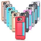 Card King Combination W/ Card Slot Phone Cases TPU PC Shockproof For Samsung