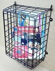 Steel Mesh Black Letter Post Catcher Door Box Cage Basket Holder Guard Letterbox