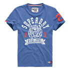 Superdry Trackster Short Sleeve Men's T-Shirt Chicago Blue m10lx120d1-rta