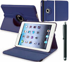 Apple iPad 2 3 4 Air Mini Pro Leather 360 Degree Rotating Smart Stand Case Cover