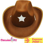 Brown Cowboy Hat Rough Rider Western Cow boy  Fancy Dress Costume Accessories