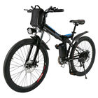 "26"" Folding Electric Mountain Bike Bicycle Ebike W/ Lithium Battery 250W"