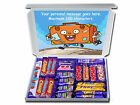 PERSONALISED LEAVING PRESENT GIFT HAMPER CHOCOLATE BARS or RETRO SWEETS FAREWELL