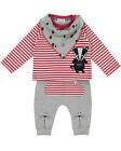 Lily and Sid Unisex Baby Bunny Knee Three Piece Set - 0-3 Months & 3-6 Months