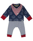 Lily and Sid Baby Boy Lion Stripe Three Piece Set - 0-3, 3-6 & 6-12 Months