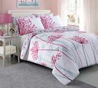 BEAUTIFUL MEADOW DESIGN PINK bed Set Duvet Cover with Pillowcases all sizes