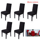 Solid Dining Chair Covers Protector Slipcover Modish Spandex Stretch Deco 1pcs