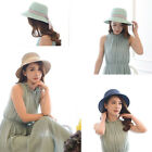 Fashion Adults Kids Wide Brim Hot Weather Summer Beach Sun Hat Straw Cap Visor