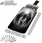 Beautiful Fallen Angel Heaven Wings Goth - Universal Leather Phone Case Cover