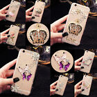 Lovely Crystals Handmade TPU Soft Transparent Back Case Cover For Mobile Phone 6