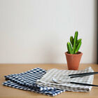 Gingham Check Cotton Kitchen Cloth Tea Towel Fabric Tablemat