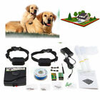 Underground Wireless 2 Dogs Fence System Shock Collar Trainer Device US Stock