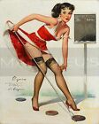 Gil Elvgren-Aiming To Please, Canvas/Paper Print, Pinup Girl