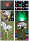 Set of 2 Garden Decoration Solar Powered Color Changing Pathway Lawn Stake Light