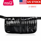 US DELIVERY MSQ Professional 29PCs Makeup Brush Sets Synthetic Belt Purse Black