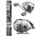 New Zebco Authentic 33 Platinum TI Spincast Rod Reel 2 Piece Combo Medium 6-12