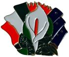 Easter Lily Tricolour Starry Plough Flags Pin Badge Irish Republican 1916