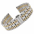 Stainless Steel Bracelet Butterfly Clasp Watch Wristwatch Band Strap 14/19 Lady