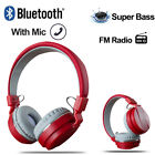 Wireless Bluetooth Stereo Headsets with Mic Super Bass HiFi Headphones Over Ear