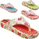 New Womens Ladies Beach Summer Holiday Sandals Floral Toe Post Flip Flops Sizes