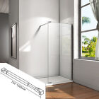 Aica Wet Room Shower Screen Enclosure & Tray Walk In 8mm NANO Glass Cubicle