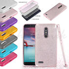 For ZTE Zmax Pro Z981 Hybrid Bling Glitter Rubber Protective TPU Hard Case Cover