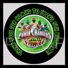 Power Rangers Dino Charge Birthday Party Bag STICKERS Personalized Label Sheet