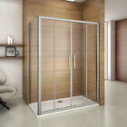 Luxury Sliding Shower Enclosure Door and Tray 6mm Glass Cubicle Screen Panel