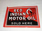 ANTIQUE SCARCE RED INDIAN MOTOR OIL 18