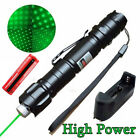10 Miles Range 5MW 532nm Green Laser Pointer Pen Visible Beam+Battery+Charger UP
