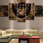 Framed Oakland Raiders Football Retro 5pcs Painting Canvas Wall Art Home Decor