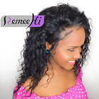 Brazilian Cora Curly Human Remy Hair Front Wigs Full Lace Wig 130% Density