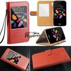 For LG Models Smartphone - window view Flip Leather Card Wallet Stand Cover Case