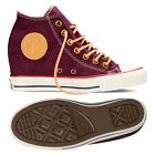 Converse Chuck Taylor All Star Lux MID 551618C Black Cherry Wedge Women Shoes