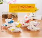 3D Goldfish Enamel Coffee Mug Cup Porcelain Tea Milk Creative Bone China Gift