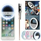 Selfie LED Light Ring Flash Fill Clip Camera For Phone Tablet iPhone Samsung HTC