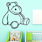 Hippo Nursery Wall Art Sticker Childrens Room Decor Playschool Transfer