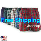 Best #1 Mens Boxer Plaid Shorts Underwear Lot Cotton Briefs Pairs Pack 3pcs