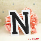 Letter A-Z Embroidered Iron On Patch Sew Motif DIY 1PC Applique Accessories IG