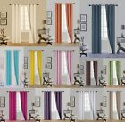 1 Set N32 Insulated Lined Foam Blackout Silver Grommet Window Curtain Panels 63""