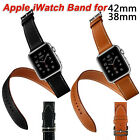 Luxury Leather Single Tour Band Strap Bracelet Wrist Belt For iwatch Apple Watch