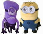 """Purple or Yellow Minion Despicable Me Plush Backpack 15"""" Tall"""