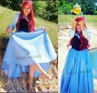 FP245 COSPLAY kiss the girl Ariel Princess little mermaid women costume with bow