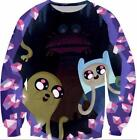 New Mens/Women's Cartoon Adventure Time 3D Print Sweatshirt hoodies pullover