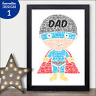 Superhero Fathers Day Personalised Gifts - Super Hero Presents for Dad Daddy