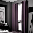 100% Blackout Panels Heavy Thick Grommet Bay Window Curtain 1 Set LILAC