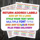 * PERSONALISED STICKY SELF ADHESIVE ADDRESS LABELS PRE PRINTED 21 per sheet